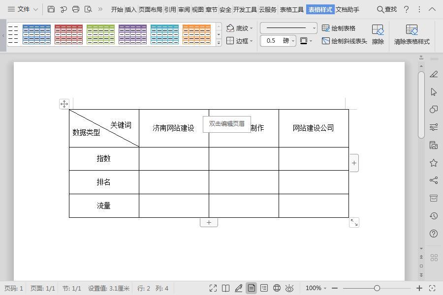 分享两种斜线表头的制作方法,WPS表格和WPS文档